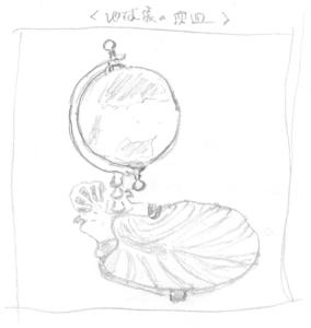 地球儀の灰皿